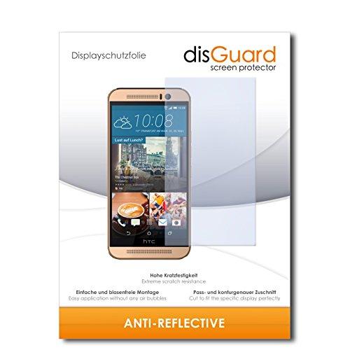 disGuard® Bildschirmschutzfolie [Anti-Reflex] kompatibel mit HTC One M9 (Prime Camera Edition) [2 Stück] Entspiegelnd, Matt, Antireflektierend, Extrem Kratzfest, Anti-Fingerabdruck - Panzerglas Folie, Schutzfolie