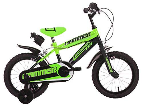 Mario Schiano 243 14' Hammer New 01V Bike, Verde/Nero, Multicolore