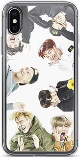 Gryss Compatible with iPhone 7 Plus/8 Plus Case BTS Kpop Meme Bangtan Boys Fanart Pure Clear Phone Cases Cover