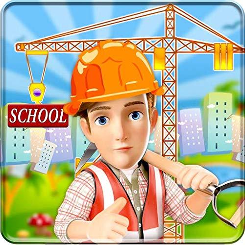 Site de construction de bâtiments scolaires: Builder Game city Paint Town Girl rénover le simulateur 2019