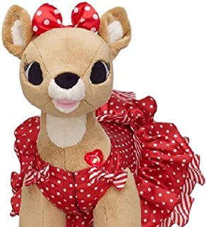 Build A Bear Clarice Rudolph the Red Nose Reindeer Clothes Musical Lights Up Singing Plush