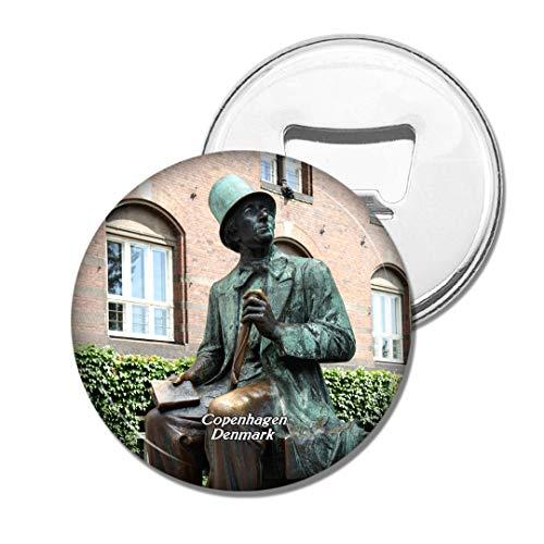 Weekino Dänemark Andersen Statue Kopenhagen Bier Flaschenöffner Kühlschrank Magnet Metall Souvenir Reise Gift