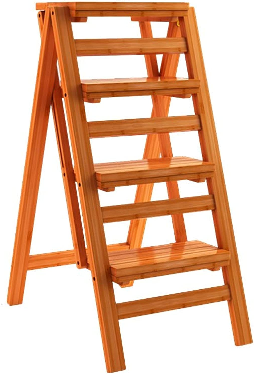 HGXC Stepladder Folding stool, bamboo stool portable small bench outdoor ladder (Size   Four-step ladder)