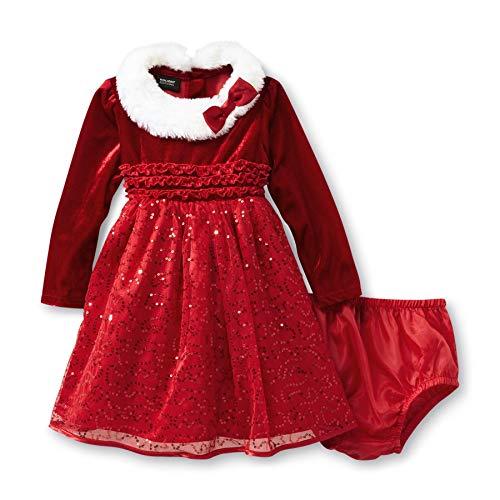 Jupon traumhaftes robe à paillettes et plüschkragen-noël-taille 80,86,92,98,110 fille