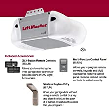 LiftMaster 8365-267 Premium Series 1/2 HP AC Chain Drive Garage Door Opener, Chain/Rails Sold Separately
