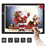 Tablette Lumineuse A4, Table Lumineuse Dessin LED A4 Super Mince Dessin Avec Ligne d'échelle Précise USB LED Art Plaque de luminosité Dessin Copie Pad Dessin Tablette (3 niveaux de luminosité)