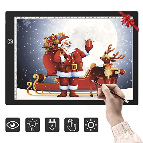 Omasi A4 LED Tavoletta Luminosa da Disegno Tavola Luminosa Disegno, Lavagna per Disegnare,Light Board Tracing Light Box A4 LED Light Pad di Disegno con Cavo USB Led per Disegnare Schizzi, Gli Artisti