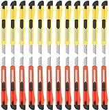 Artcut Cutter professionale, 24 Confezioni Di Taglierini (Taglierine A Lama Larga 9MM) Coltello Multiuso Retrattile, Compatto, Espandibile Per Ufficio Pesante, Casa, Artigianato, Hobby