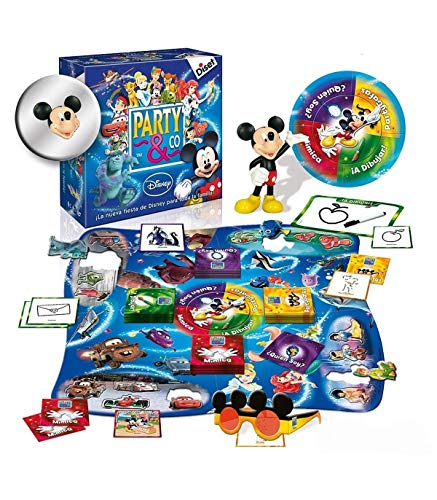 Diset- Disney Juego Party, 27.2 x 26.7 x 8.9 (46504)