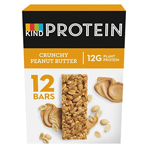 KIND High Protein Bars, Healthy Gluten Free & Low Calorie Snacks, Crunchy Peanut Butter, 12 Bars {PACKAGING MAY VARY}