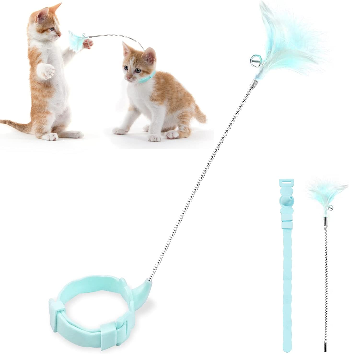 Interactive Cat Feather Toys Wand Toy To Omaha Mall Kitten Replacement Super popular specialty store