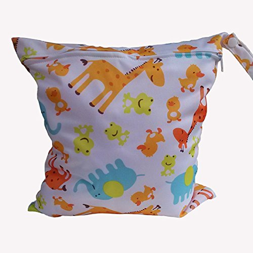 Egurs luiertas waterdichte herbruikbare baby wasbare luiertas met 1 ritssluiting giraffe