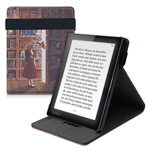 kwmobile hoes compatibel met Kobo Aura Edition 1 – Hoesje voor ereader in meerkleurig – Magische Bibliotheek