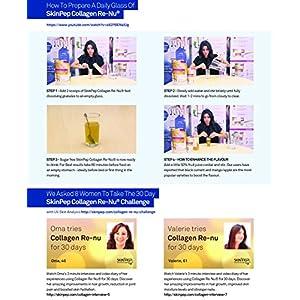 SkinPep Collagen Re-Nu Liquid Shot Sachet 300g - 30 Day Supply - The Anti-Ageing Daily Collagen Drink Mix - Marine Collagen - Collagen Powder - Collagen Supplement - SkinPep Nutritional Supplement