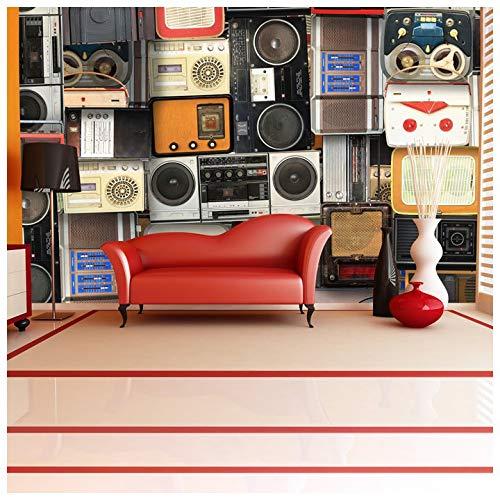 azutura Retro Musik Fototapete Vintage Kassetten Tapete Schlafzimmer Haus Dekor Erhältlich in 8 Größen X-Groß Digital