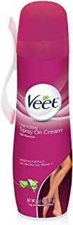 Veet Spray On Hair Remover Cream, Sensitive Formula, 5.1 oz