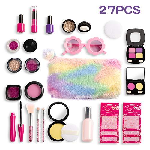 Joyjoz Set de Maquillaje Falso para Niñas de 27PCS, Kit de Maquillaje...