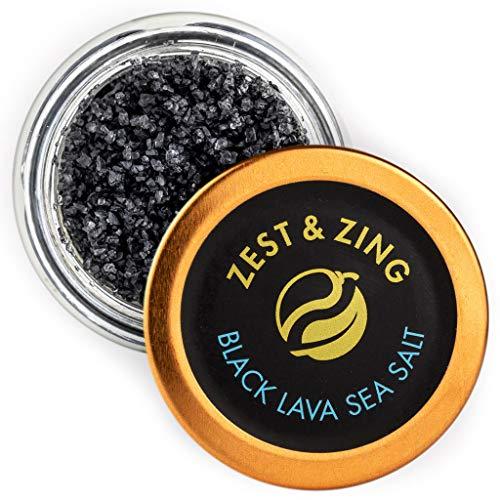 Hawai Black Lava Meersalz (grobkörnig), 55g - ZEST & ZING Premium Salz. Frische, praktische, stapelbare Gewürzdosen.