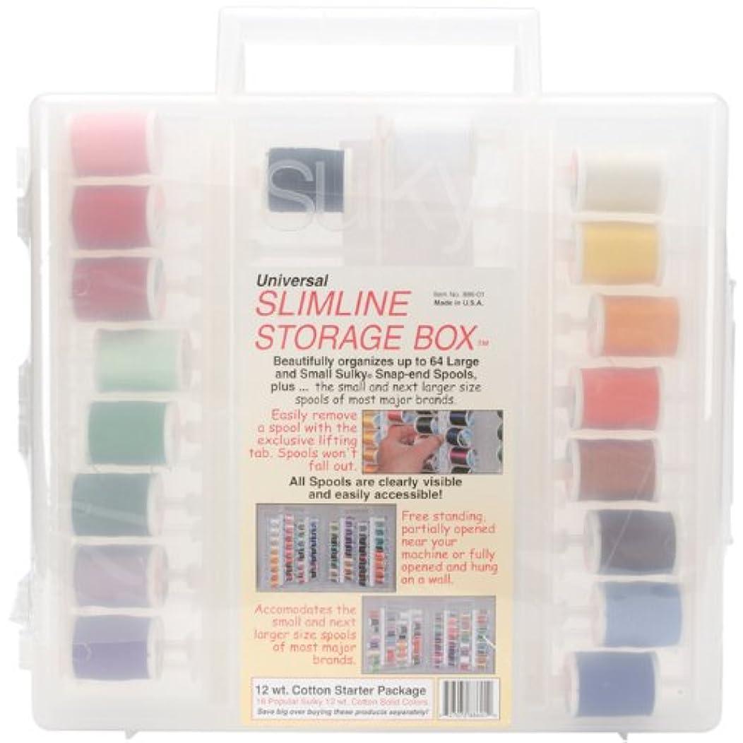 Sulky 886-01 Slimline Starter Assorted Thread Set, Cotton, Size 12
