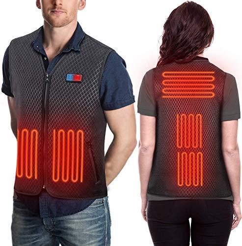 Unisex Warm Heated Vest USB Charging Warming Lightweight Heated Jacket for Outdoor Activities