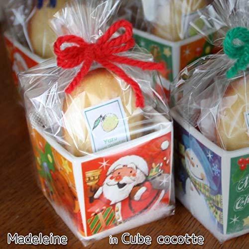 焼き菓子クリスマスプチギフト「キューブココット」〜チョコレート米粉マドレーヌと季節の柑橘フルーツを焼き込んだマドレーヌ