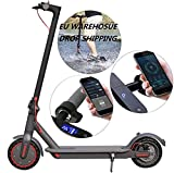 350W Electric E-Scooter with Powerful Battery & Scooter Motor, Lightweight and Foldable for Adults and Teenagers with Powerful Headlight & App Control