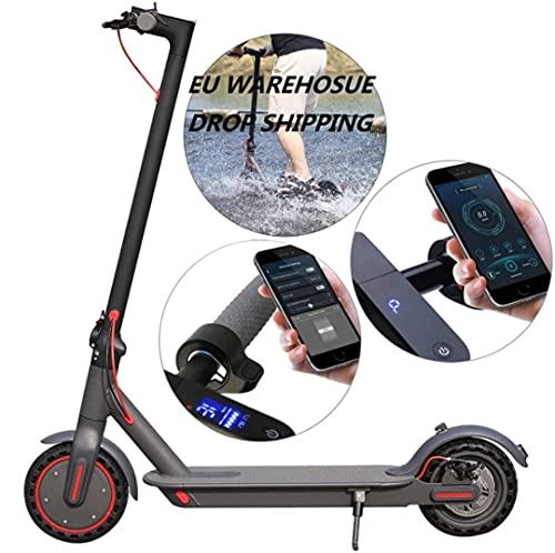 350 W elektrisk e-scooter med kraftfull batteri och scootermotor, lätt och vikbar för vuxna och tonåringar med kraftfull strålkastare och appkontroll