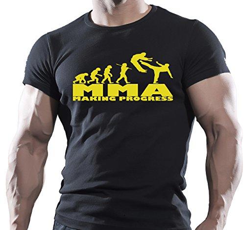 Arubas-uk MMA haciendo progreso para hombre culturismo gimnasio Motivación Goku camiseta MMA entrenamiento Top