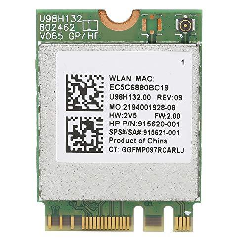 Trådlöst nätverkskort, RTL8821CE-stöd för upp till 433M Bluetooth 4.2 WIFI-nätverkskort 802.11 A/B/N/AC-protokoll för Win7 / 8/10, för HP-bärbara datorer/allt-i-ett-enheter, etc.