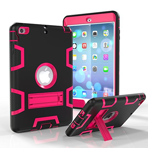 Funda para iPad Mini 2, iPad Mini 3, iPad Mini, Jeccy de Tres Capas, Antideslizante, Resistente, a Prueba de Golpes, híbrida, Resistente, con función Atril para Apple iPad Mini1/2/3