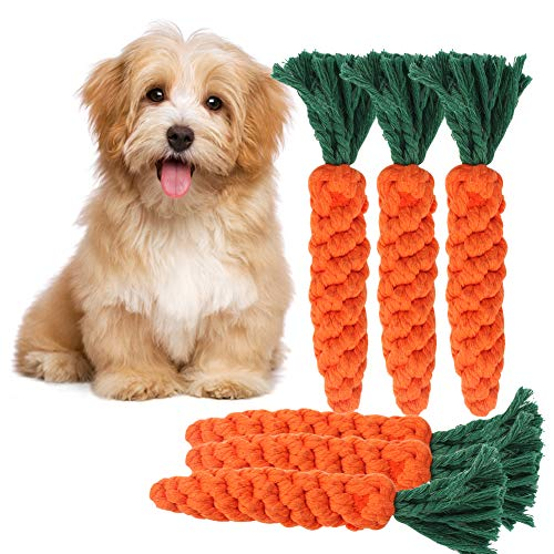 EMUST Dog Rope Toys 6 Pack, 100% Cotton Dog Toys for Small Dogs, Puppy Teething Toys, Dog Chew Toys for Boredom Training Indoor/Outdoor