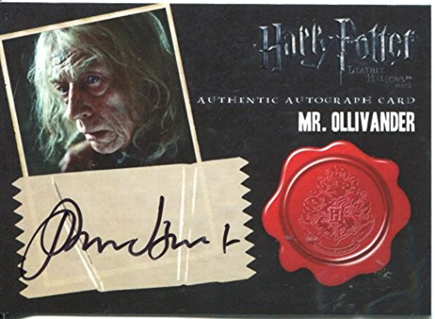 Harry Potter Deathly Hallows Pt. 2 Autograph John Hurt as Mr. Ollivander