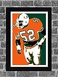 Iconic Images Miami Hurricanes Ray Lewis Portrait Sports Print Art 11x17