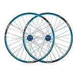 TYXTYX Rueda Bicicleta de montaña 26'MTB Juego de Ruedas de Bicicleta Freno de Disco Compatible 7 8 9 10 Velocidad Llanta de aleación de Doble Pared 32H