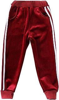 MODNTOGA Kids Baby Boys Girls Velvet Tracksuit Pants(3-7T)