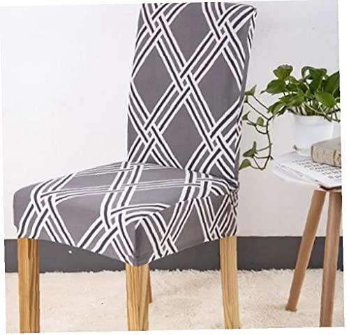 TongICheng Dining Chair Abdeckung Sitzschutz 2ST Auswärts Essen Stuhl-Abdeckung Sitzschutz Fit Slipcover Stretch Herausnehmbare waschbare Spandex Stoff für Heim