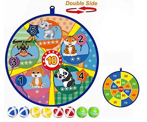 Lbsel Kids Game Doppelseitige Dartscheibe 8 Sticky Balls - Ausgezeichnetes Indoor-Spiel und Partyspiele - Sicheres Dartspiel-Geschenk für Kinder (33.5 cm)
