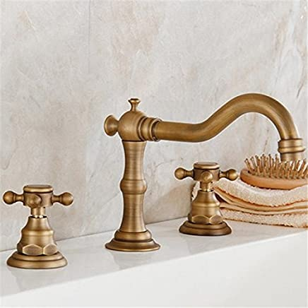 Hlluya Professional Sink Mixer Tap Kitchen Faucet Antique-brass hot and cold water basin Faucet