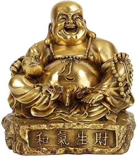 DYB Adornos de Feng Shui, decoración de Buda, Adornos de Buda, Cobre, Vientre Grande, Maitreya, Buda, Manualidades para el hogar, Regalo de geomancia 0908