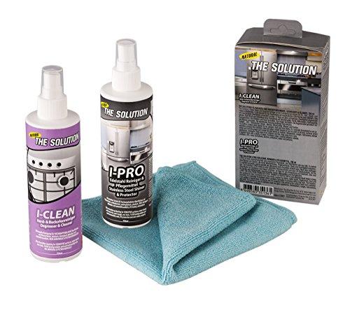 I-CLEAN & I-PRO * Hochleistungsreiniger SET auf Natur Basis * für Herd / Backofen / Ceranfelder * Inklusive 1x SOLUTEX Qualitäts Mikrofasertuch