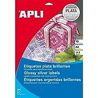 【APLI】インクジェットA4メタルラベル10枚48面si(AP-11348)