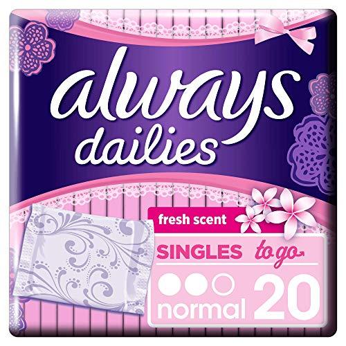 Always Singles To Go Slipeinlagen 20Stück