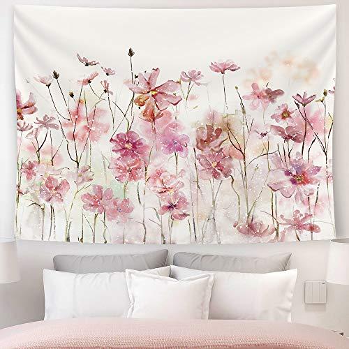 SUMGAR Tapiz de Pared Flores Rosas Tapices del Colgar Romántico Floral Paisaje Moderno para Tapestry Decoración de Pared para Dormitorio Sala de Estar 150 x 200 cm
