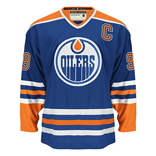 adidas NHL Wayne Gretzky Edmonton Oilers Heroes of Hockey Authentic Vintage Jersey (46)