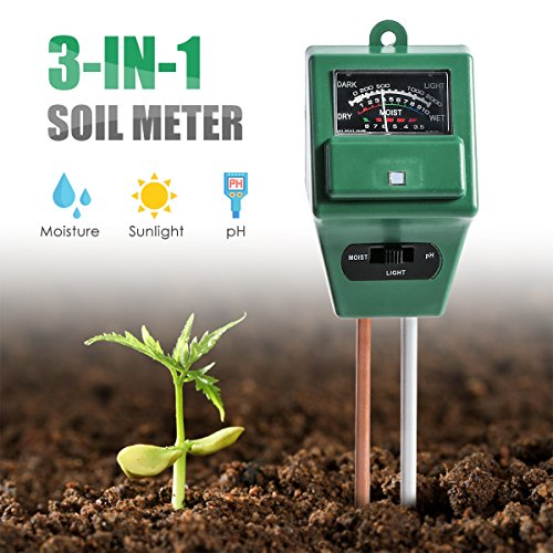 Best Prices! Jinxuny 3 in1 Soil Tester Moisture, Light and PH Test Soil Water Moisture Test Meter fo...