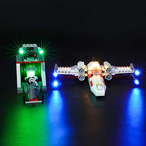 BRIKSMAX Led Lighting Kit for X-Wing Starfighter Trench Run - Compatible with Lego 75235 Building Blocks Model- Not Include The Lego Set