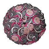 W-sueños de para bebés de - Con forma de carrito de sombrilla de - Color gris y blanco rosa con piedras preciosas y semicírculo, diámetro de la 68 cm, la protección de la radiación ultravioleta 50+