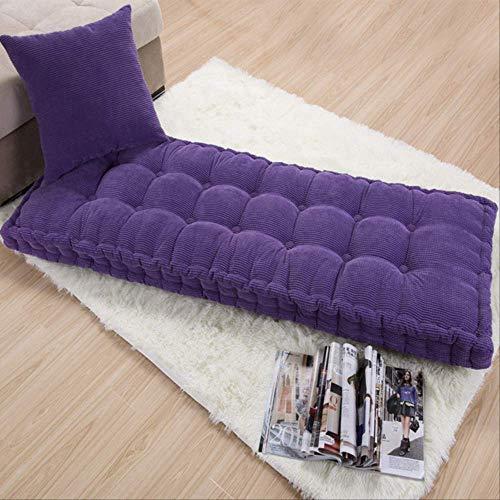 GCE Cuscino per Panca da Giardino Cuscino Spesso per Patio Portatile materassino per Sedia Relax reclinabile per Letto per/Interno/Esterno 50x125cm Viola-8