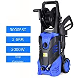 Goplus 3000PSI Electric High Pressure Washer Machine 2 GPM 2000W W/Deck Patio...