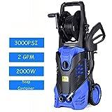 Goplus 3000PSI Electric High Pressure Washer Machine 2 GPM 2000W W/Deck Patio Cleaner (Blue)